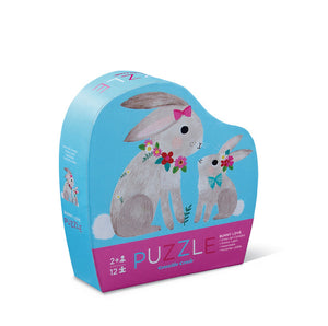 12 pc Mini Puzzle- Bunny Love
