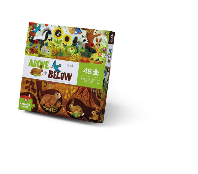 48 pc Above & Below Puzzle- Backyard