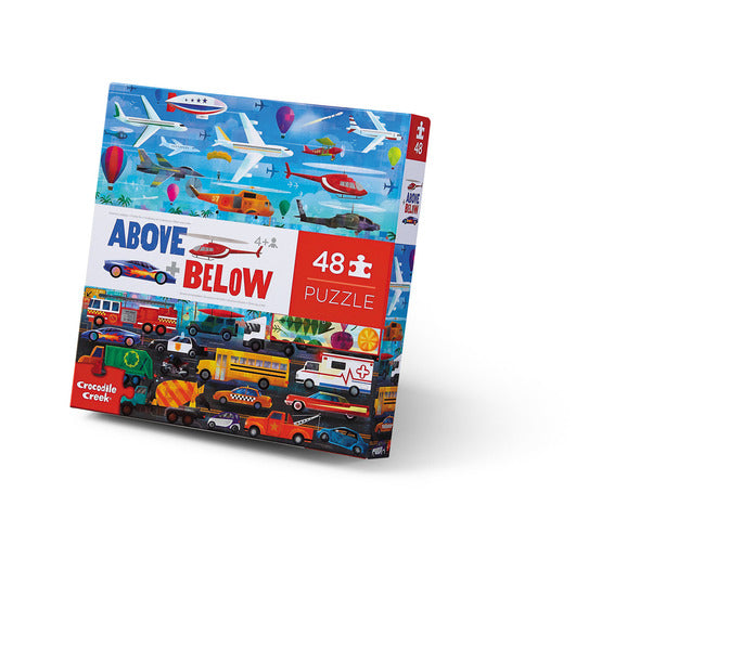 48 pc Above & Below Puzzle- Things that Go