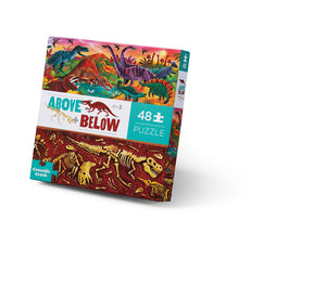 48 pc Above & Below Puzzle- Dinosaur World