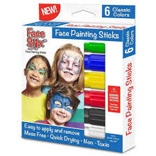 Load image into Gallery viewer, Face Paint stix 6pk