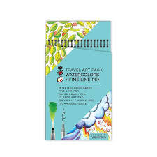 Travel Art Pack Watercolors and Fine Line Pens