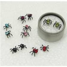 Jeweled Spider Earring