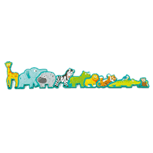 Load image into Gallery viewer, Amazing Alphabet and Animal parade wood puzzle