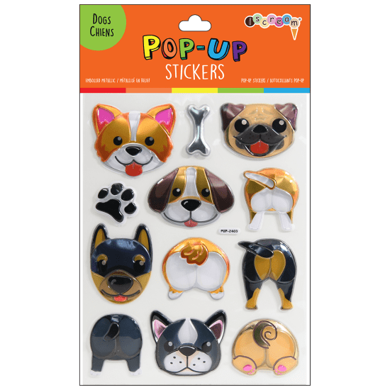 Dogs Pop-up Stickers