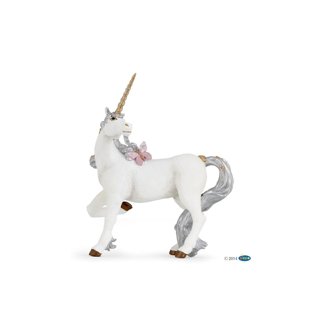 Silver Unicorn Figurine