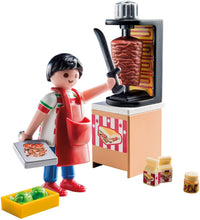 Load image into Gallery viewer, PLAYMOBIL Kebab Vendor Building Set