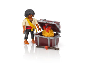 Playmobil Pirate with treasure chest