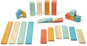 Magnetic Wooden Block 24 pc Set - Sunset