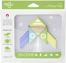 Load image into Gallery viewer, Spaceship Travel Pal Magnetic Wooden 6 Piece Block Set