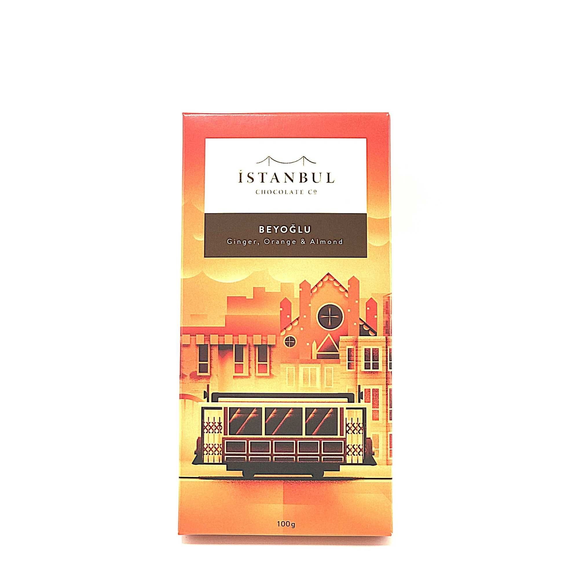Istanbul Chocolate Beyoglu Ginger, Orange & Almond 100 Gr
