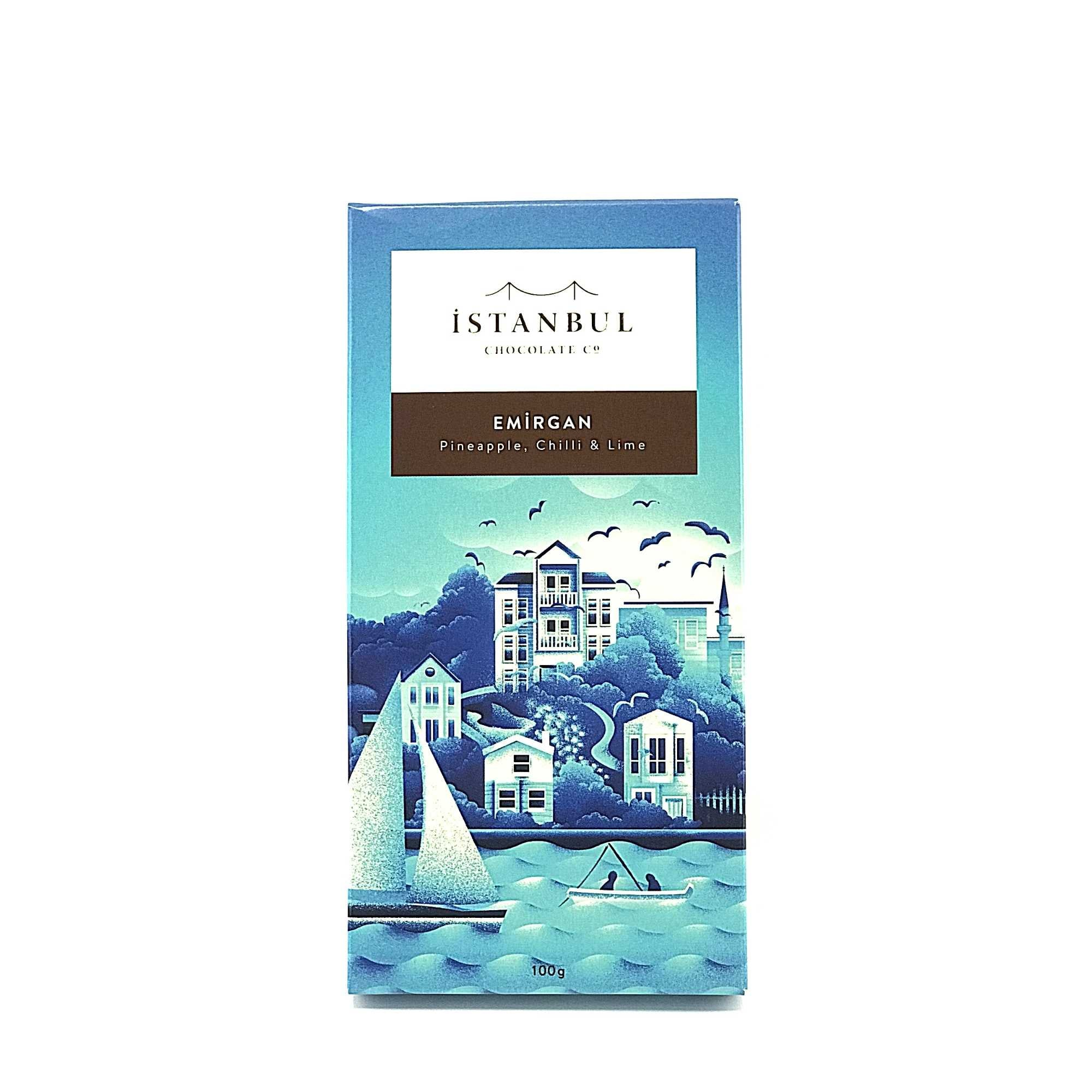 Istanbul Chocolate Emirgan Pineapple, Chilli & Lime 100 Gr