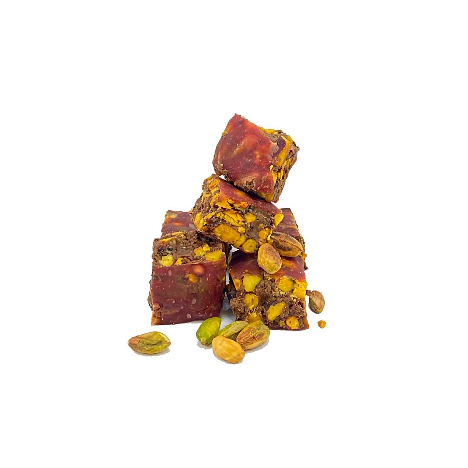 Velvet Lokum Pomegranate Coated Chocolate Flavoured with Pistachio 100 Gr