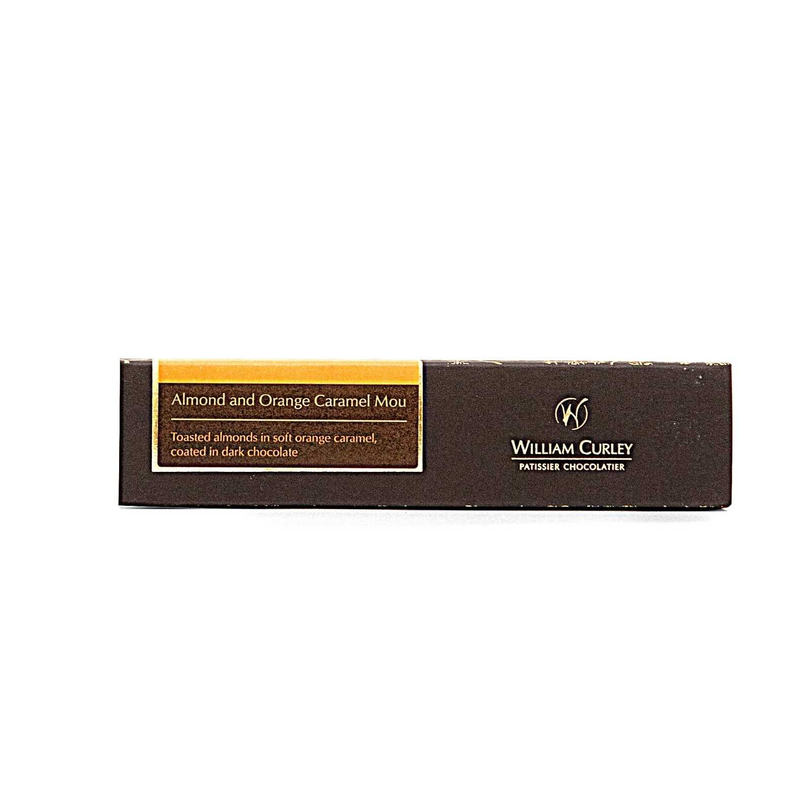 William Curley, Almond and Orange Caramel Mou Snack Bar 45 Gr