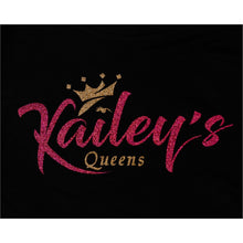 Load image into Gallery viewer, Kailey's Queen's Glitter Crop-Top