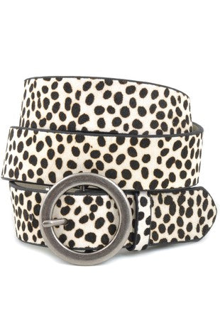 Gia Cow Hair Leather Belt