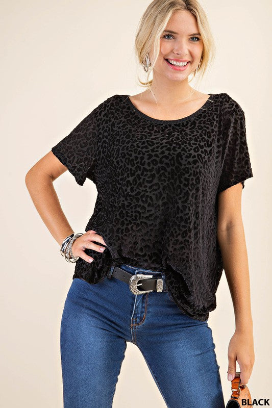 Burn Out Leopard Top
