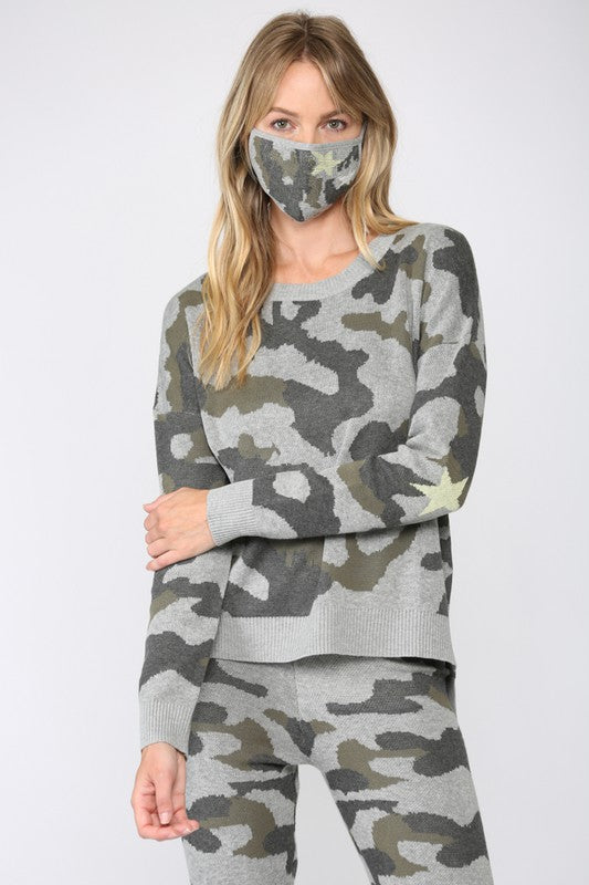 Camo Sweater with Mask