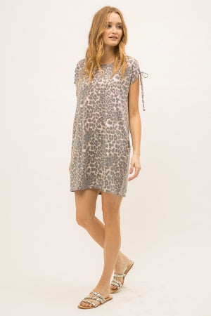 Caramel Dye Leopard Dress