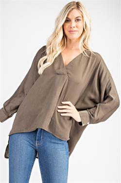 Carlene V-neck High-low Top