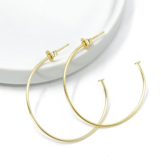 Small Simple Gold Hoops