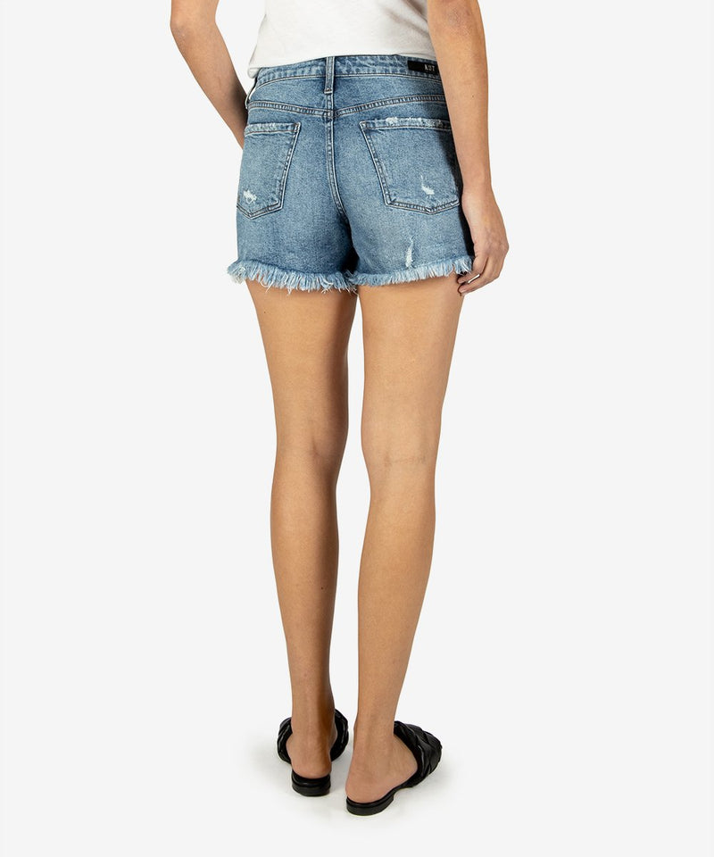 Jane High Rise Fray Hem Shorts