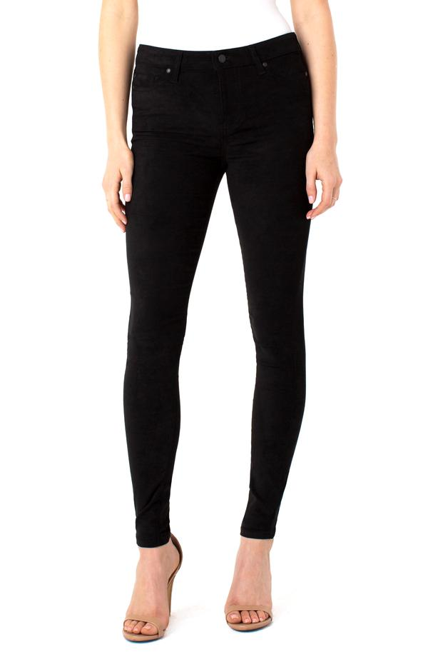 Abby Skinny Faux Suede