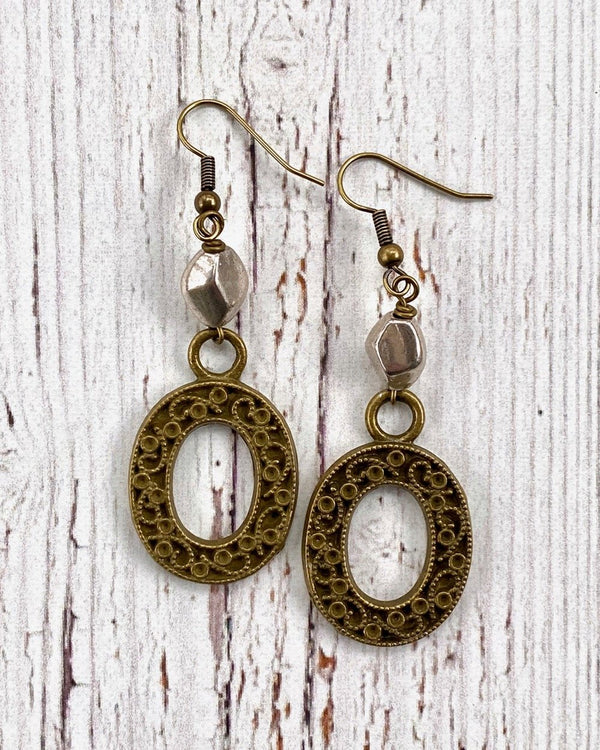 Vintage Oval Earrings