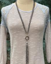 Orbit Chain Tassel Necklace