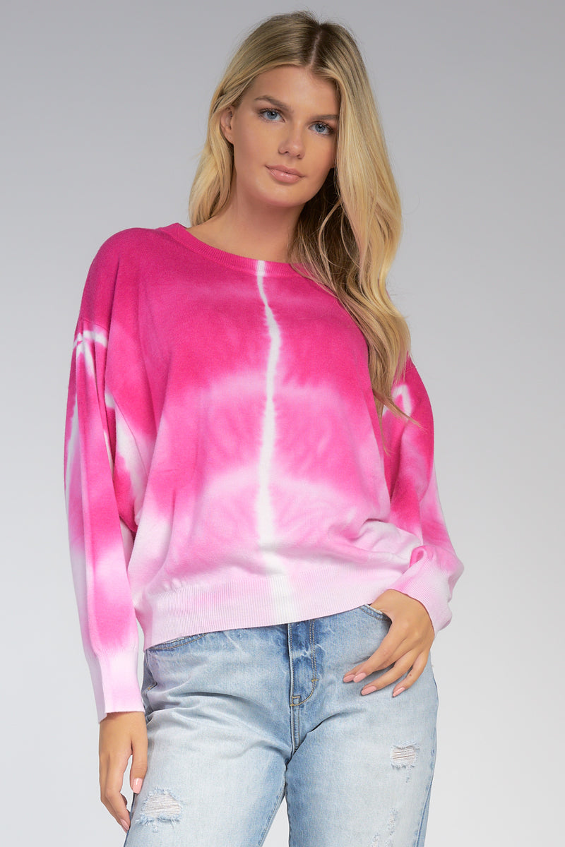 Brooklyn Tie Dye Sweater Pink