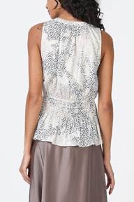 Monica Smocked Sleeveless Top