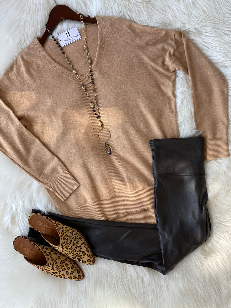 Anabelle Vneck Sweater