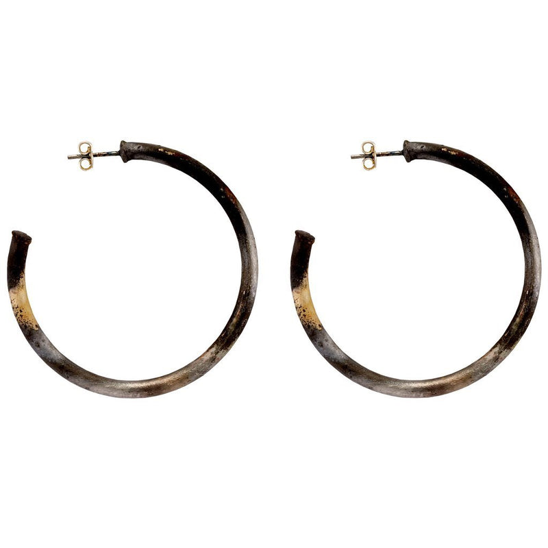 Petite Hoops Burnished Silver
