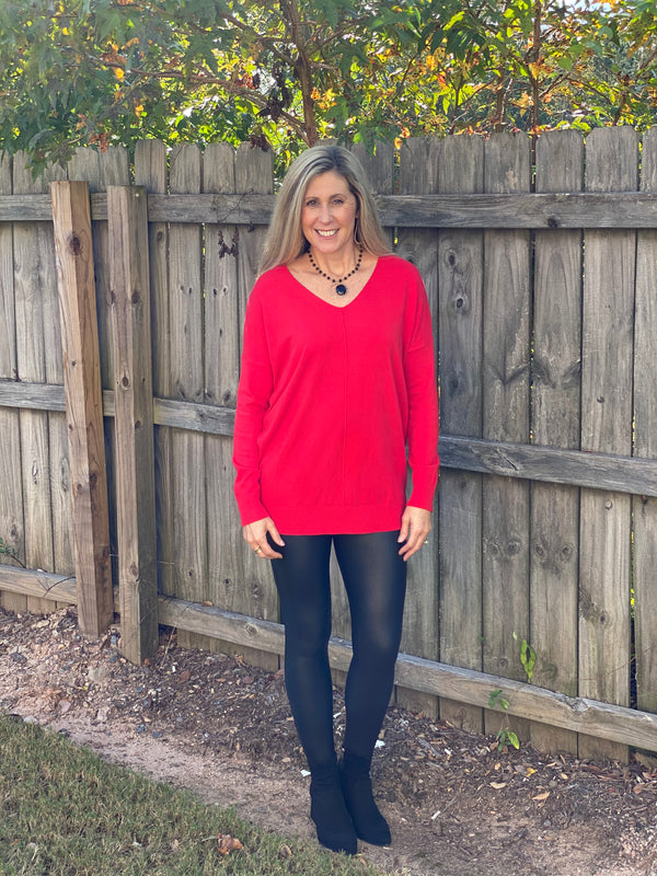 Going Places Sweater Red