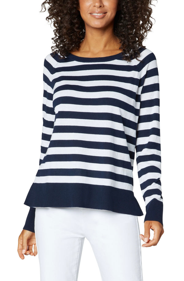 Sail with Me Striped Sweater