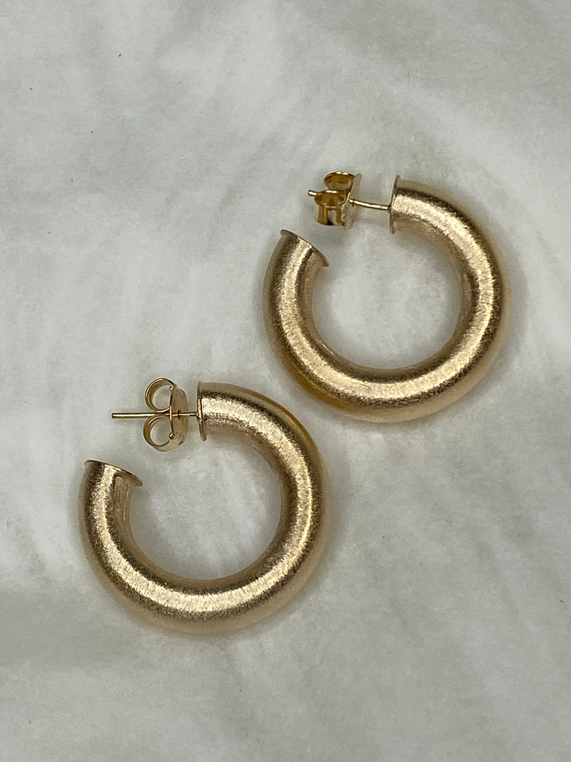 Small Chantal Hoops 6mm