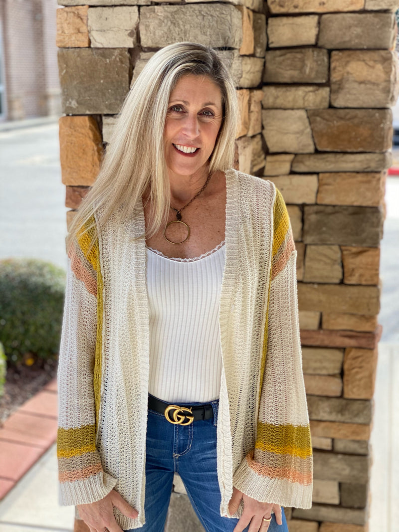 Shelby Color Block Cardi