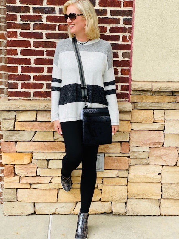 Daphne Color Block Sweater