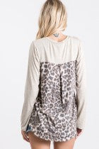 Weekend Leopard Mix Top