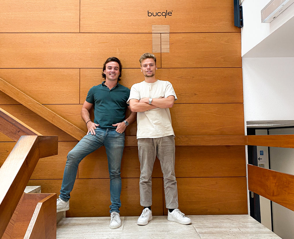 The Founder and cofounder of bucqle daan van der lecq and jasper van stas