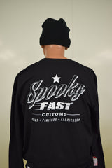 Spooky Fast Corporate Logo Long Sleeve T-Shirt - Black