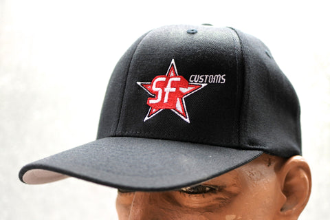 Spooky Fast Embroidered Star Logo Fitted Hat - Black