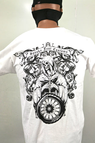 Spooky-Fliction T-Shirt - White