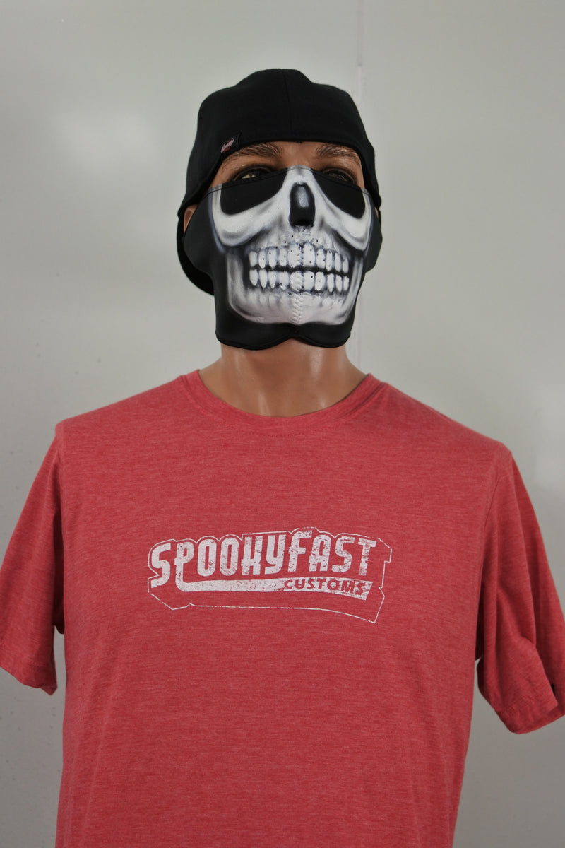Spooky Fast Baseball Logo T-Shirt - Red