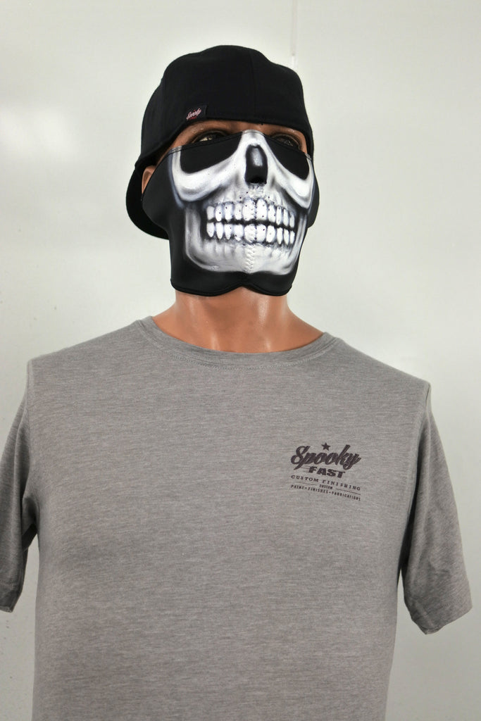 Spooky Fast Corporate Logo T-Shirt - Gray