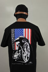 Spooky Fast Big Wheel Bagger T-Shirt - Black