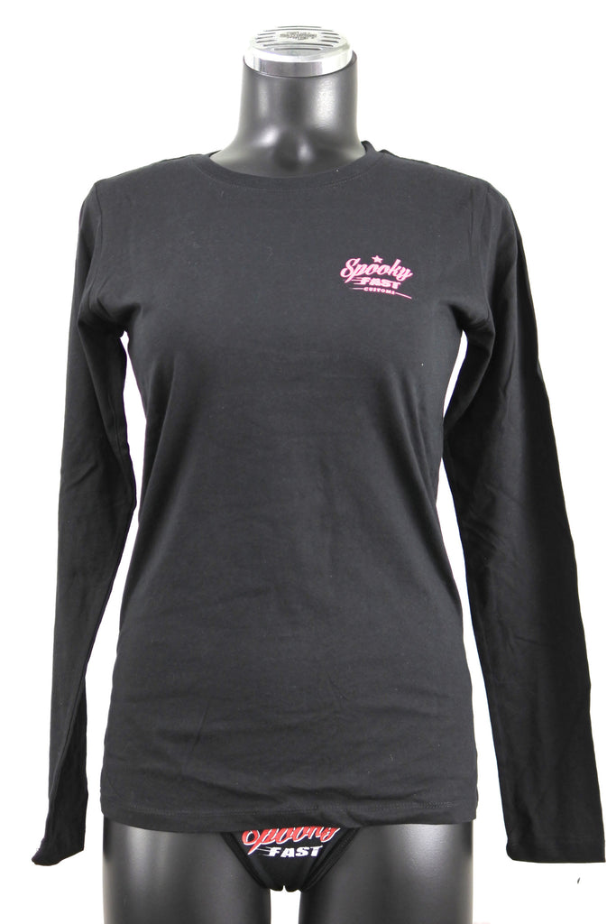 Spooky Fast Women's Corporate Logo Long Sleeve T-Shirt - Black