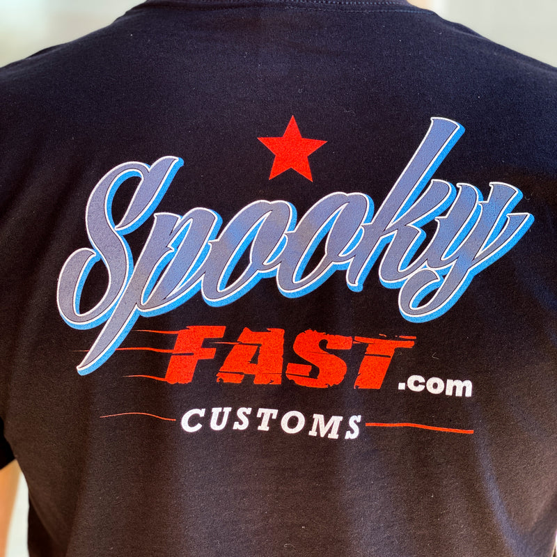 Spooky Fast Corporate Short Sleeved T-Shirt - Black