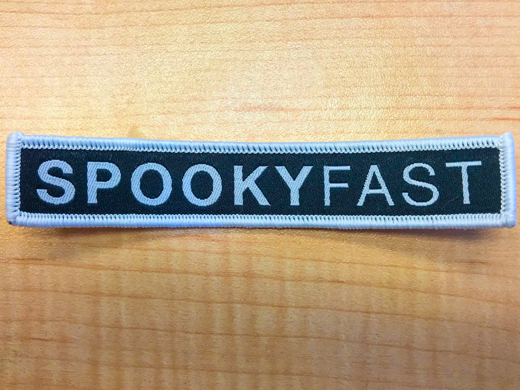 Spooky Fast Bar Logo Patch
