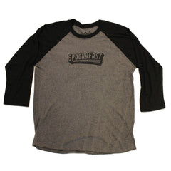 Spooky Fast Baseball 3/4 Sleeve Tee - Black/Charcoal